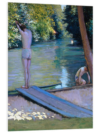 Obraz na PCV  Bathers on the banks of the Yerres - Gustave Caillebotte