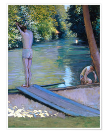 Plakat Bathers on the banks of the Yerres