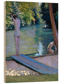 Obraz na drewnie  Bathers on the banks of the Yerres - Gustave Caillebotte
