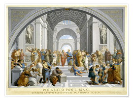Plakat School of Athens (after Raphael) to 1771-79