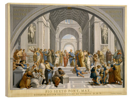 Obraz na drewnie  School of Athens (after Raphael) to 1771-79 - Giovanni Volpato