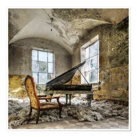 Plakat The old piano