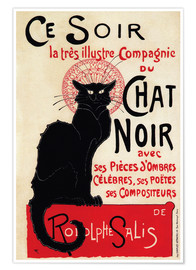 Plakat  Chat Noir (Black Cat - French) - Théophile-Alexandre Steinlen