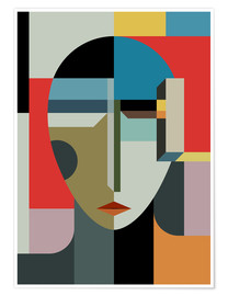 Plakat  Portrait of a woman - THE USUAL DESIGNERS