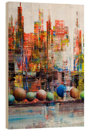 Obraz na drewnie  Manhattan, abstract - Gerhard Kraus