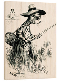 Obraz na drewnie  Cat fishing - Louis Wain