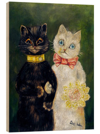 Obraz na drewnie  Cats Wedding - Louis Wain
