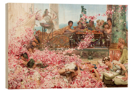Obraz na drewnie  The Roses of Heliogabalus - Lawrence Alma-Tadema