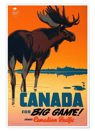 Plakat  Canada travel for big game - Travel Collection