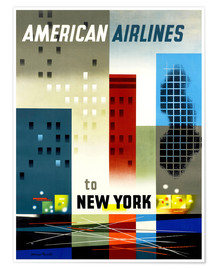 Plakat American Airlines to New York