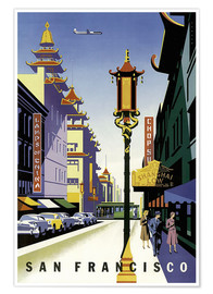 Plakat  United Air Lines San Francisco - Travel Collection