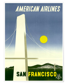 Plakat  American Airlines San Francisco - Travel Collection