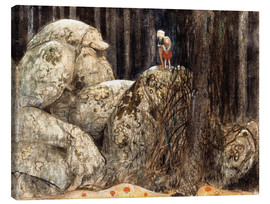 Obraz na płótnie  The Child and the Stone Troll - John Bauer