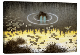 Obraz na płótnie  N?kken, The Monster of the Lake - Theodor Kittelsen