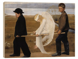 Obraz na drewnie  The wounded angel - Hugo Simbert