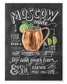 Plakat  Moscow Mule przepis (angielski) - Lily & Val