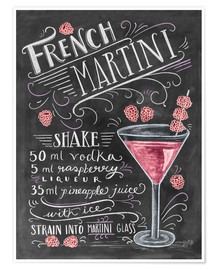 Plakat  French Raspberry Martini recipe - Lily & Val