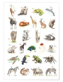 Plakat  ABC animals (German) - Nadine Conrad