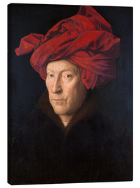 Obraz na płótnie  Man with a red turban - Jan van Eyck