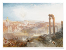 Plakat  Modern Rome - Joseph Mallord William Turner