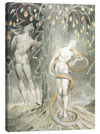 Obraz na płótnie  Adam and Eve - William Blake