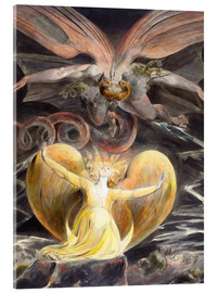 Obraz na szkle akrylowym  The great red dragon and the woman clothed with sun - William Blake