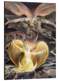 Obraz na aluminium  The great red dragon and the woman clothed with sun - William Blake