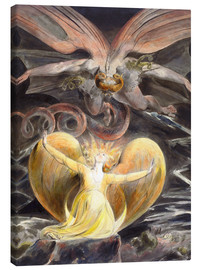 Obraz na płótnie  The great red dragon and the woman clothed with sun - William Blake