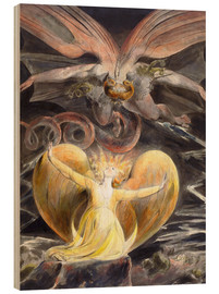 Obraz na drewnie  The great red dragon and the woman clothed with sun - William Blake