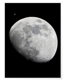 Plakat ISS and the Moon