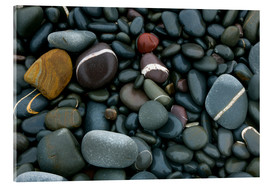 Obraz na szkle akrylowym  Pebbles on a beach - Keith Wheeler