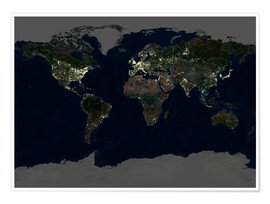 Plakat Whole Earth at night