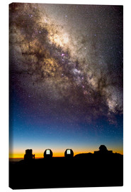 Obraz na płótnie  Mauna Kea telescopes and Milky Way - David Nunuk