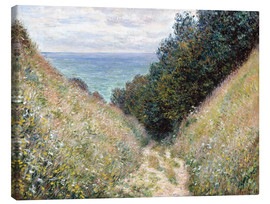 Obraz na płótnie  Road at La Cavée, Pourville - Claude Monet