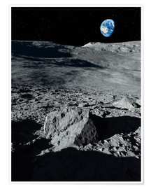 Plakat Earth from the moon