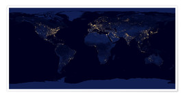 Plakat  Earth at night - NASA