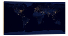 Obraz na drewnie  Earth at night - NASA