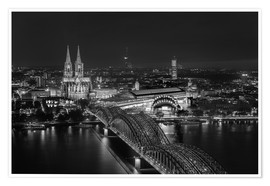 Plakat Cologne black and white