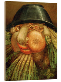 Obraz na drewnie  The Vegetable Gardener - Giuseppe Arcimboldo