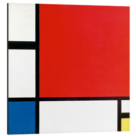 Obraz na aluminium  Composition with Red, Yellow and Blue - Piet Mondriaan