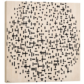 Obraz na drewnie  Composition with lines - Piet Mondriaan
