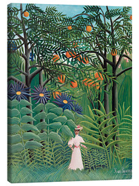 Obraz na płótnie  Woman in an exotic forest - Henri Rousseau