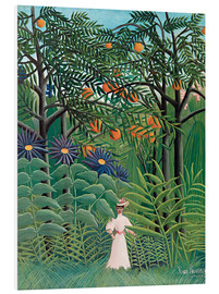 Obraz na PCV  Woman in an exotic forest - Henri Rousseau