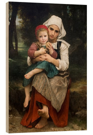Obraz na drewnie  Breton Brother and Sister - William Adolphe Bouguereau