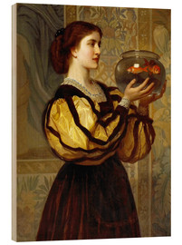 Obraz na drewnie  The Goldfish Bowl - Charles Edward Perugini