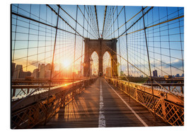 Obraz na aluminium  Brooklyn Bridge at sunrise, New York - Jan Christopher Becke