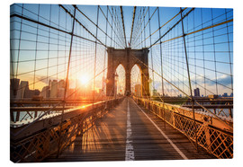 Obraz na płótnie  Brooklyn Bridge at sunrise, New York - Jan Christopher Becke
