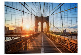 Obraz na PCV  Brooklyn Bridge at sunrise, New York - Jan Christopher Becke