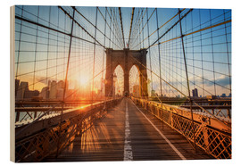 Obraz na drewnie  Brooklyn Bridge at sunrise, New York - Jan Christopher Becke