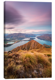 Obraz na płótnie  Awesome sunset over Wanaka lake from Mt Roy, Otago, New Zealand - Matteo Colombo